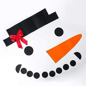 Ochine Christmas Garage Door Decorations Outdoor Snowman Banner Cover Mural Christmas Holiday DIY Decor Supplies