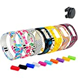 DigiHero Wristbands Replacement Bands With Clasps and Fastener Sleeve for Vivofit 2/Vivofit 2 Bands/Vivofit 2 Garmin/ Vivofit 2 Wristbands/ Garmin Vivofit 2 Bands/ Garmin Vivofit 2 Bands (No Tracker, Only for Vivofit Generation 2 )