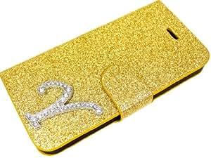 Exklusive-Cad diseño adornado con diseño de letras de metal Funda para LG G3 D855 diseño de tapa con cierre magnético - letra Y en oro