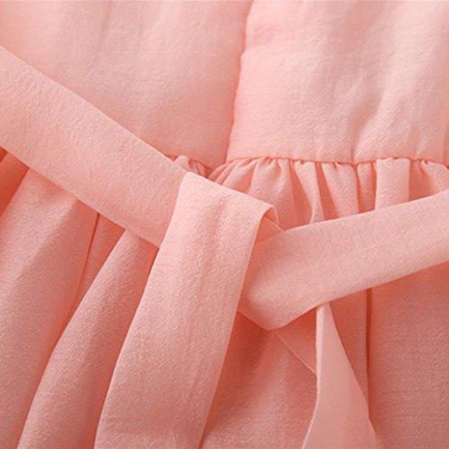 Charmant Fil Sans Net Enfants Amuster Tutu Bébé 1 Col Impression Manches Fille Floral Rose Mode Princesse En À Robe Robes Maille Rond Fleuri Imprimé EEqa6O