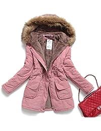 Womens Hooded Warm Winter Coats Parkas With Faux Fur Jackets Outwear