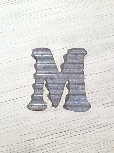 Corrugated Metal Wall Letters Home Decor Initial Rustic Wedding Decor Bedroom