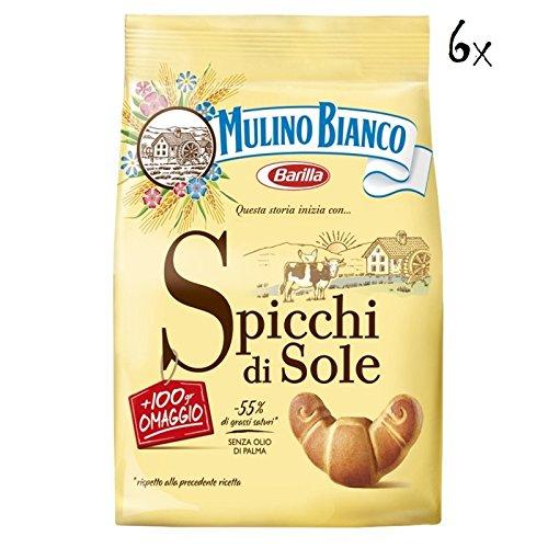 6 x Mulino Bianco Galletas spicchi Di Sole 900 g Italia biskuits Cookies tartas: Amazon.es: Alimentación y bebidas