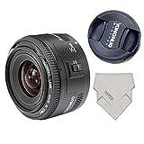 Yongnuo YN35mm F2 35 mm wide-angle grande apertura Auto lente de enfoque fijo + lynca impermeable protege lente para canon montura EF EOS Cámaras