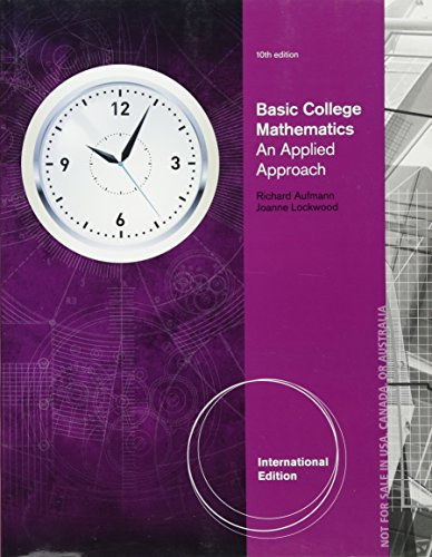Basic College Mathematics: An Applied Approach, International Edition