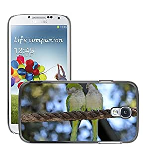 Super Stella Slim PC Hard Case Cover Skin Armor Shell Protection // M00147010 Parrot Lovebird Couple Bird Fly // Samsung Galaxy S4 S IV SIV i9500