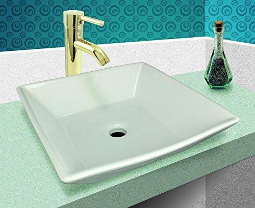 Square Bathroom Vessel Sink White Porcelain Ceramic Art Basin Vanity Counter Mount Design | Renovator's Supply durable service