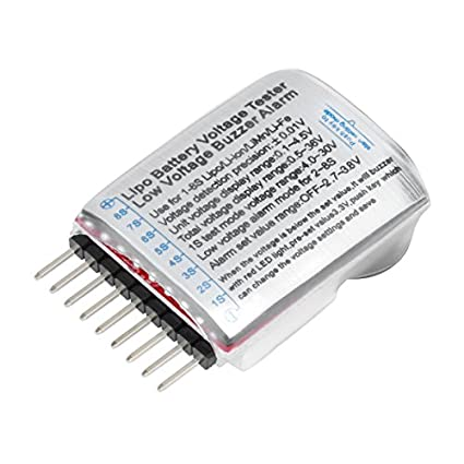Virhuck 2pcs 1-8S Probador del Voltímetro de la Batería de Litio de RC con el Indicador del LED, Racing Drone / Car Batería Lipo / Li-Ion / LiMn / ...