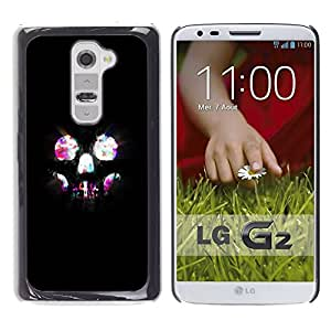 Be Good Phone Accessory // Dura Cáscara cubierta Protectora Caso Carcasa Funda de Protección para LG G2 D800 D802 D802TA D803 VS980 LS980 // Skull Skeleton Lights Bling Neon Night