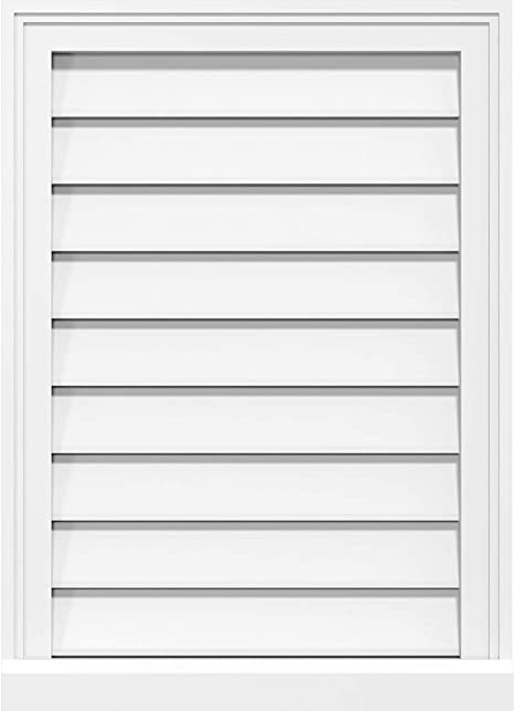 Ekena Millwork Gvpve12x1203sf Vertical Surface Mount Pvc Gable Vent 12 W Inch X 12 H Inch Factory Primed White Amazon Com