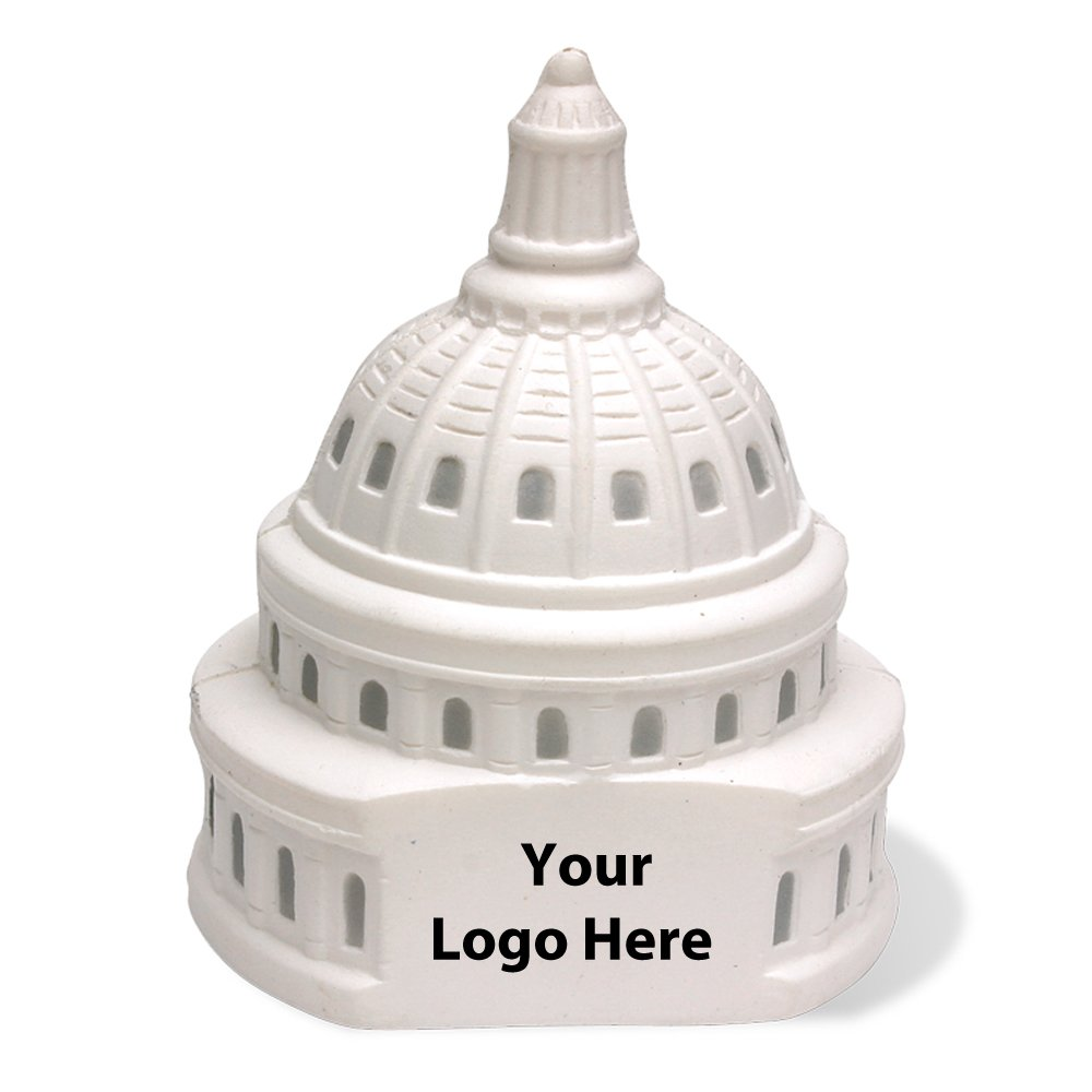 Capitol Dome Stress Reliever - 150 Quantity - $2.85 Each - PROMOTIONAL PRODUCT / BULK / BRANDED with YOUR LOGO / CUSTOMIZED