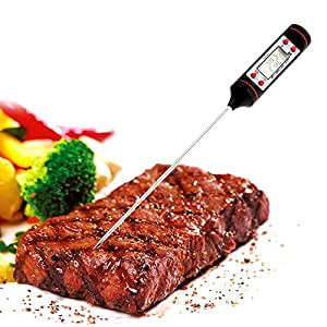 Kasstino Digital Food Thermometer Probe Temperature Kitchen Cooking BBQ Meat Turkey Jam