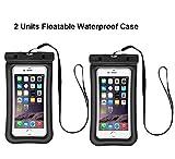 Drenky Floatable Waterproof Cell Phone Bag, 2 Pack Clear Transparent Cellphone Waterproof, Dustproof