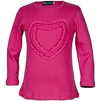 Girls' Ruffle Love Heart Long Sleeve Tee Shirts Top