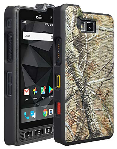 - Sonim XP8 Case, Nakedcellphone's [Camouflage] Tree Leaf Real Woods Slim Ribbed Rubberized Hard Shell Cover [with Kickstand] for Sonim XP8 Phone (XP8800)