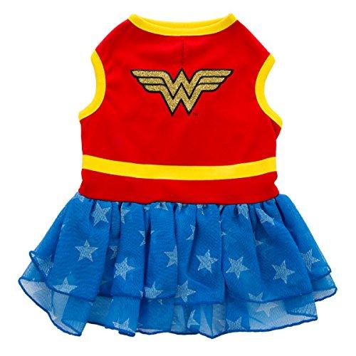 DC Comics Wonder Woman Dog Dress Costume Medium (Wonder Woman Dog Costume)