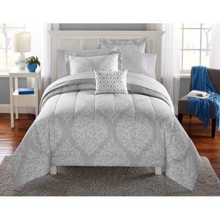 Mainstays Leaf Medal Bed in a Bag Bedding Set | Polyester Comforter Fill (Full) (Madison Crib Set)