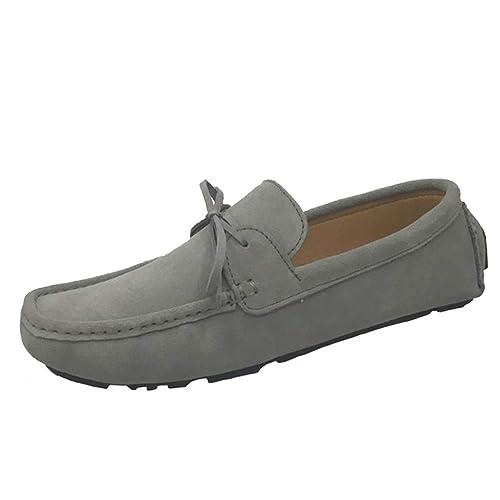 Mocasines Planos De Mujer MocasíN Homme Mocasines De Cuero De Gamuza ResbalóN En Nudo De Mariposa SóLido SeñOras Calzado Casual: Amazon.es: Zapatos y ...