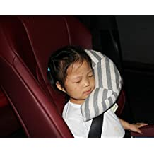 Fangfei Seatbelt Headrest Pillow Cover Shoulder Pad Comfy Support Car Pillow for Kids (style1)