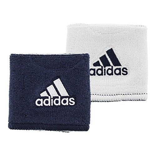adidas Interval Reversible Wristband, Collegiate Navy/White / White/Collegiate Navy, One Size Fits All