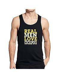 Teeburon REAL MEN LOVE Cockapoos Tank Top
