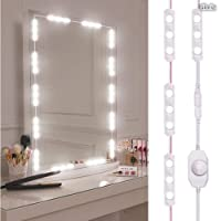 Kit de luces para espejo, Gloriz Vanity Mirror Lights Kit Juego de luces para espejo 60 LED 3 m IP65 tira de luz LED flexible luz regulable bombillas para cuarto de baño maquillaje cosmético cambiador vestidor , espejo no incluido