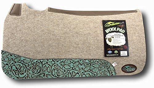 The Montana 100% Extra Fine Wool Saddle Pad by Southwestern 3/4