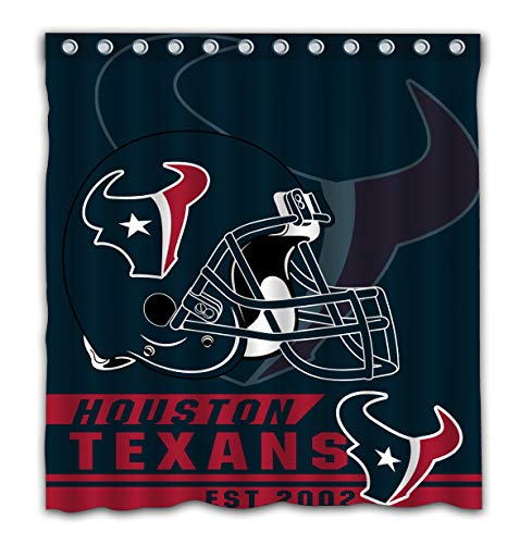 Felikey Custom Houston Texans Waterproof Shower Curtain with Color Bathroom Decoration Size of 66x72 Inches