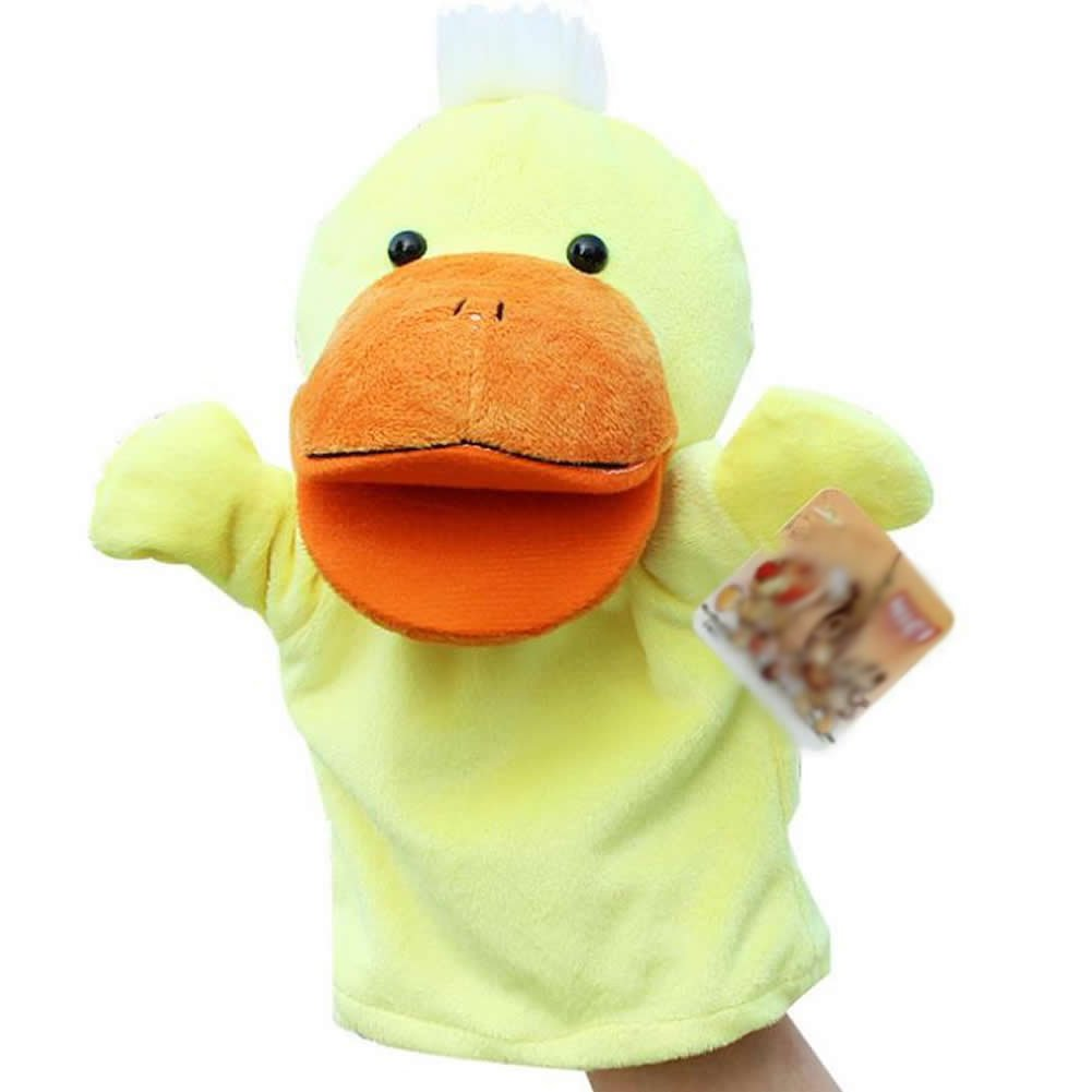 SODIAL(R) Cute Plush Velour Animals Hand Puppets Chic Designs Kid Child Learning Aid Toy (Duck) 050533A1