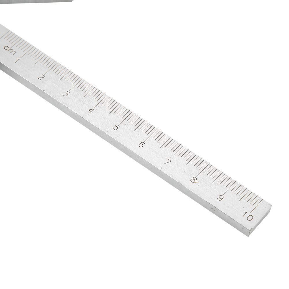 carr/é de centrage 100 70 mm Jauge de centre de jauge Barre ronde Marquage Finder Center Finder R/ègle de jauge centrale