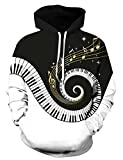 Best Music For Pianos - Uideazone Printed Piano Music Note Pullover Hoodie Teen Review