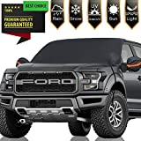 Frelong Windshield Snow Ice Covers Extra Larger Size 97'x 63' Shade Waterproof Sun Protection All Cars, Trucks, SUVs, MPVs