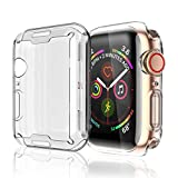 Misxi Compatible with Apple Watch Series 4 Screen Protector 44mm, 2018 New iwatch Cover TPU Overall Protection 0.3mm Ultra-Thin Case for Apple Watch Series 4 44mm (2-Pack)