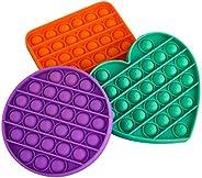 Herimadee Bubble Popper Sensorial Fidget Juguete Alivio del Estrés Squishy Squeeze Bubble Game para niños y ad