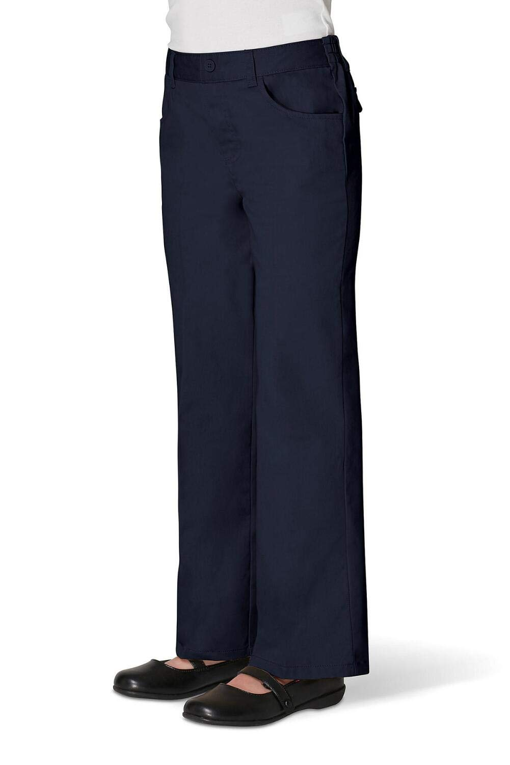 French Toast Big Girls' Pull-On Pant, Navy, 10