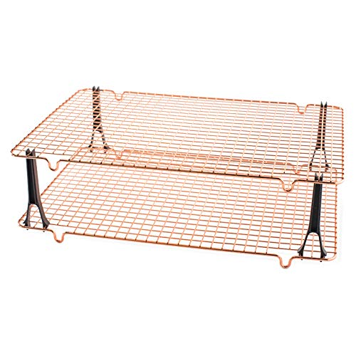Nordic Ware Non Stick Cooling Rack - Nordic Ware Stackable Nonstick Cooling Rack Set