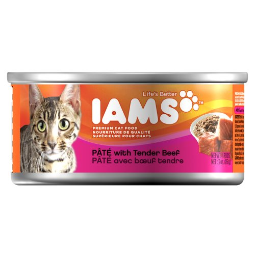 Iams Proactive Health Adult Pate with Tender Beef, 3-Ounce Cans (Pack of 24), My Pet Supplies