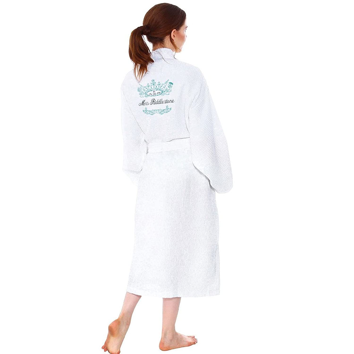 Star and Stripes Wedding Bathrobe M\'LORD and M\'lady Embroidery Logo ...