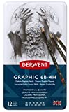 Derwent Graphic Drawing Pencils, Medium, Metal Tin, 12 Count (34214)