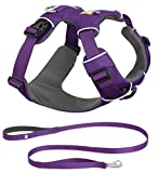 RUFFWEAR 2017 FRONT RANGE DOG HARNESS AND LEASH COMBO ♦ ALL DAY TRAINING ADJUSTABLE ADVENTURE HARNESS ♦ ALL SIZES AND COLORS (Small, Tillandsia Purple)