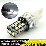 7440 led bulb - T20 W215W 7440 LED Back Up Reverse Light Bulb 15-2835 SMD 15W 800Lumens Super Brighter Xenon White 6000K Pack of 2