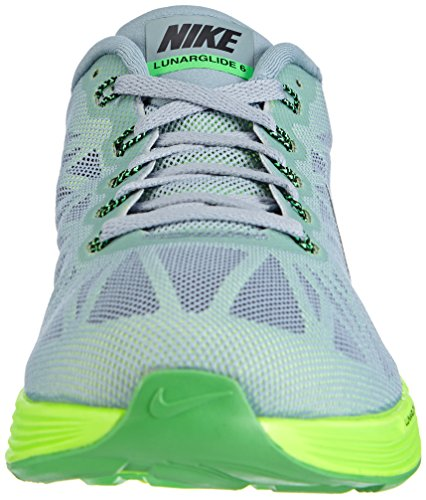 Nike Men's Lunarglide 6 Running Shoes Grau (Dove Grey/Black-poison Green-flash Lime) 60CXdCAJf