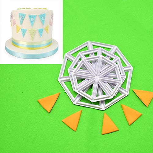 3PCs/Lot Flag Banner Cake Decoration Tools Fondant Cutters Fondant Cake Mold Baby Kids Birthday Party Cake Plastic -