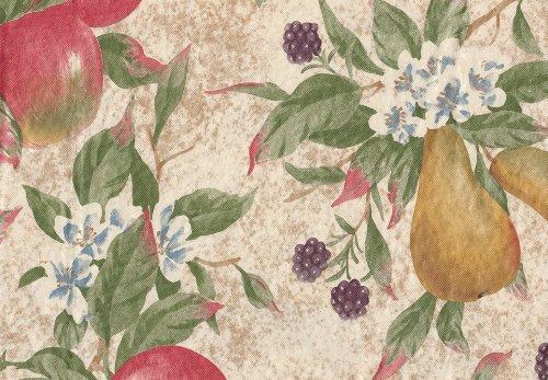 Everyday Fruits Flannel Back Vinyl Tablecloth, 60'' x 84'' Oval by Newbridge (Image #1)