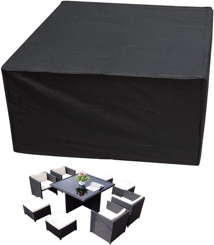 GHHQQZ Fundas de Muebles Impermeable Proteccion Lona Alquitranada Pesado Sofá Mesa De Café, Personalizable (Color : Negro, Size : 70x70x140cm)