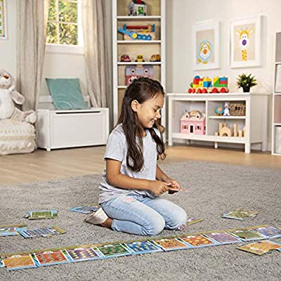 "Melissa & Doug Number Train Jumbo Floor Puzzle (Easy-Clean Surface, Promotes Hand-Eye Coordination, 20 Pieces, 96"" L x 7"" W): Toys & Games"