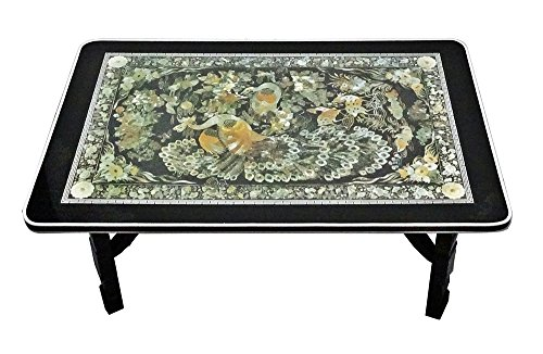 Dining Room Traditional Coffee Table - Excelife 86230 Phoenix Design Mother of Pearl Table M, Medium