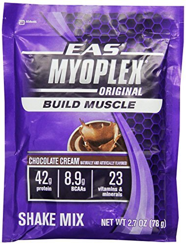 EAS Myoplex Original Nutrition Shake Powder, Chocolate Cream, 2.7-Ounce Packet, 42 Count by EAS