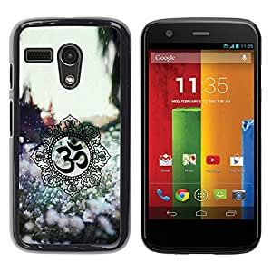 For Motorola Moto G1 / X1032 Case , Symbols Spring Nature Flowers - Diseño Patrón Teléfono Caso Cubierta Case Bumper Duro Protección Case Cover Funda