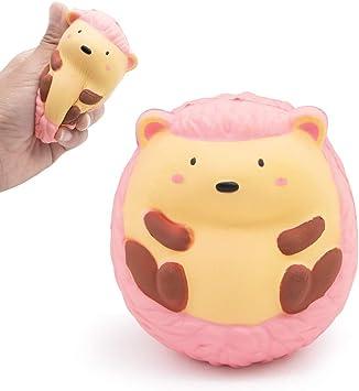 Squishy Toys Regalo per Bambini Giocattolo Antistress per Ragazze Ragazzi SPECOOL Kawaii Squishy Giocattolo Riccio Rosa Slow Rising Squishies
